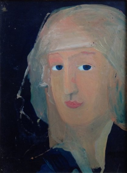 """Portrait on a dark background"" 1989 - Korovenko Vasily"
