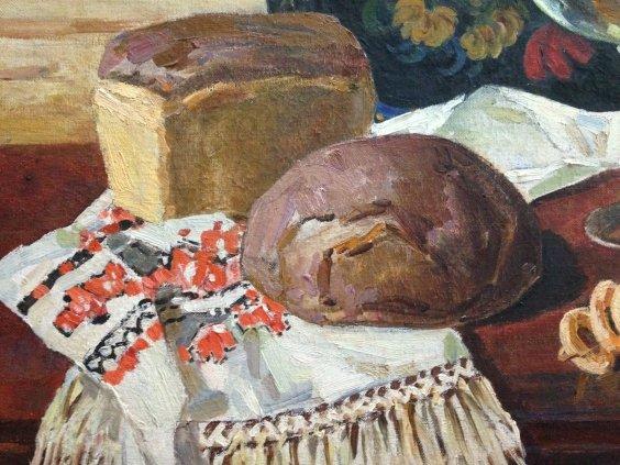«Натюрморт с хлебами»-Фоменок Станислав Федорович