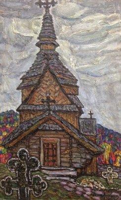 """Church, Western Ukraine"" 1978-1991 - Литвин Леонид Григорьевич"