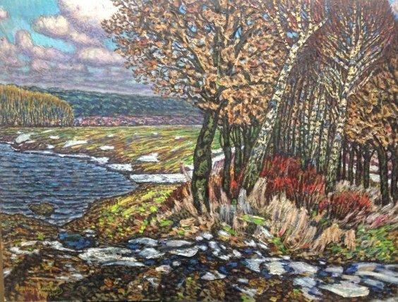 """The sun has warmed-Winter is gone"" 1980 - Lytvyn Leonid Grigorievich"