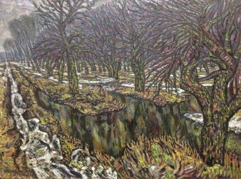 """Spring thaw, Apple Garden"" 1980 - Lytvyn Leonid Grigorievich"