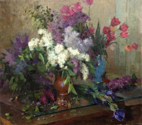 """Lilac and Tulips"" 1950 е - ""Lilac and Tulips"""