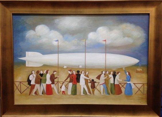 """Evening zeppelin""-Kuzmin Vitaly Alexandrovich"