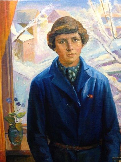 """Portrait of the Lenin Scholarship of the Medical Institute Krytsak""-Valeriy G. Duvirak"