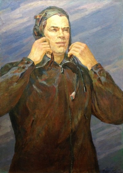 """Portrait of the Test Pilot of the USSR VA Kalinin"" 1973 - Sytnik Vladimir Ivanovich"