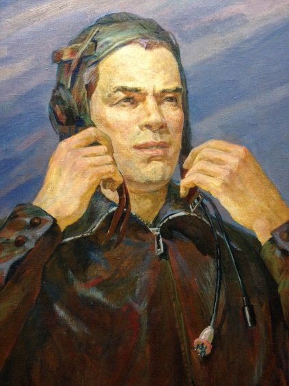 """Portrait of the Test Pilot of the USSR VA Kalinin""-Sytnik Vladimir Ivanovich"