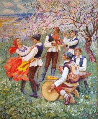 """Moldovan dance"" 1971 - Bondarenko Svetlana Vladimirovna"