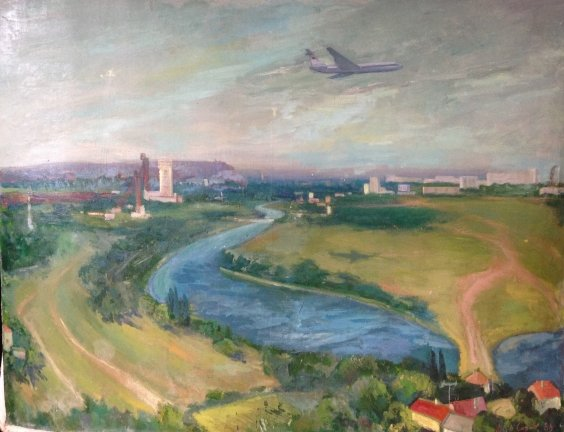 """""""Aircraft on the Motherland"""" 1983 - Soroka Arkady Vasilyevich"""