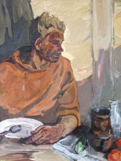 """Dinner of tractor drivers""-Kovzan Viktor Ivanovich"