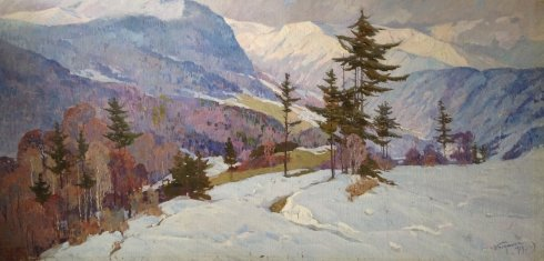 """Winter in the Carpathians"" 1979 - Bednoyshe Daniil Panteleevich"