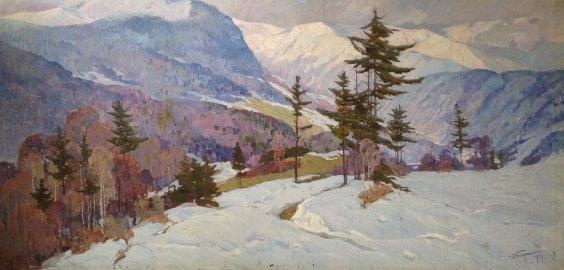 """Winter in the Carpathians"" 1979 - Bednoyshe Daniil Panteleevich"