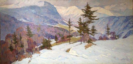 """Winter in the Carpathians""-Bednoyshe Daniil Panteleevich"