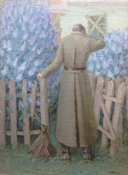 """""""At my father's house"""" 1988 - Shkuropat Alexander Iosifovich"""