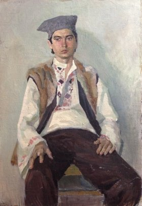"""Portrait of a Young Hutsul"" 1970 е - Fomenok Stanislav Fedorovich"