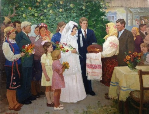 """Wedding in the countryside"" 1991 - Titarchuk Leonid Vasilyevich"