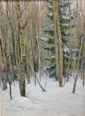 """Winter in the Forest"" 1966 - Sysoev Nikolay Alexandrovich"