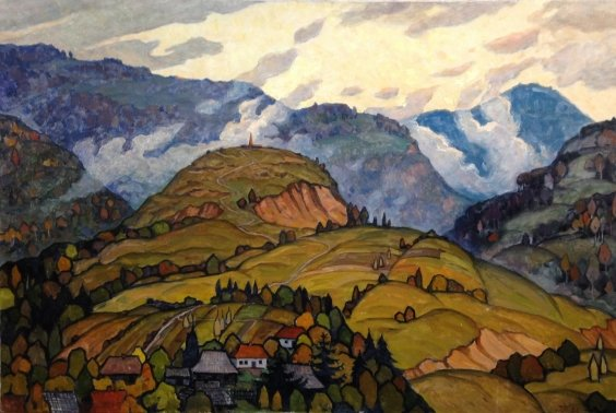 """""""Carpathians, anonymous height"""" 1988 - Priedan Ivan Kharitonovich"""