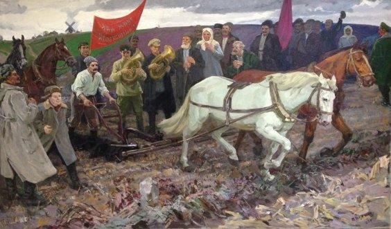 """""""The first furrow"""" 1969 - Bilan Pyotr Ilyich"""