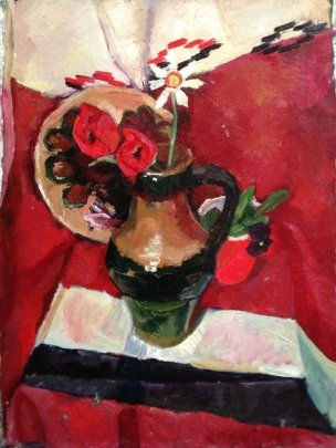 """Still life with a jug"" 1972 - Falchuk Alla Mironovna"