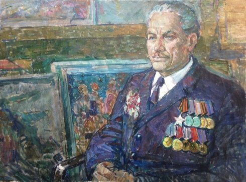 """Portrait of a veteran of the Second World War"" 1970 е - ""Portrait of a veteran of the Second World War"""