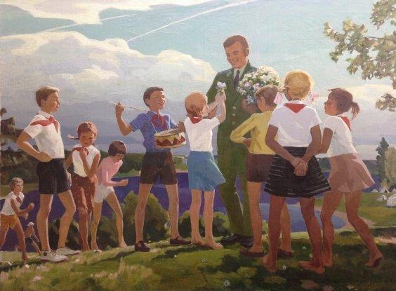 """""""Gagarin in Artek""""-Lomykin Konstantin Matveyevich"""