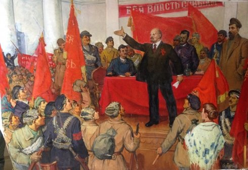 """Lenin proclaims Soviet power"" 1960 е - Bespalov Ivan Nikolaevich"