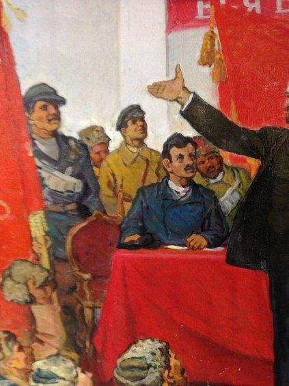 """Lenin proclaims Soviet power""-Bespalov Ivan Nikolaevich"