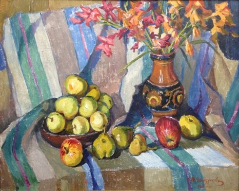 """Flowers and fruits"" 1966 - Baidukov Alexander Vasilyevich"