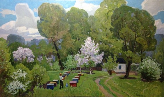 """Spring in the Apiary"" 1970 е - Khitrova Tamara Aleksandrovna"