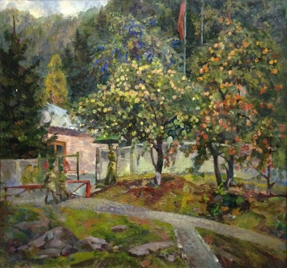 """""""Outpost in the forest"""" 1970 е - Ruban Grigory Savelievich"""
