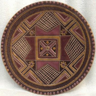 ЛКСФ Декоративная тарелка «Орнамент» 1960 е - ЛКСФ Декоративная тарелка «Орнамент»
