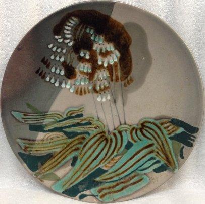 ЛКСФ Декоративная тарелка «Ландыши» 1960 е - ЛКСФ Декоративная тарелка «Ландыши»