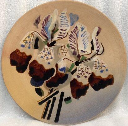 ЛКСФ Декоративная тарелка «Ирисы» 1960 е - ЛКСФ Декоративная тарелка «Ирисы»