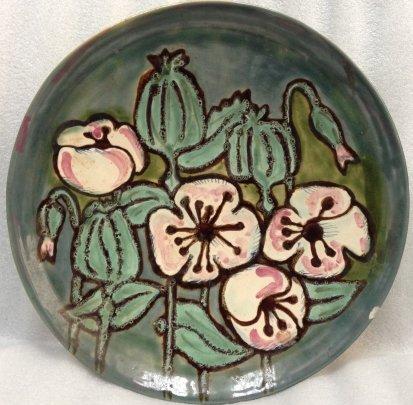 ЛКСФ Декоративная тарелка «Маки» 1960 е - ЛКСФ Декоративная тарелка «Маки»