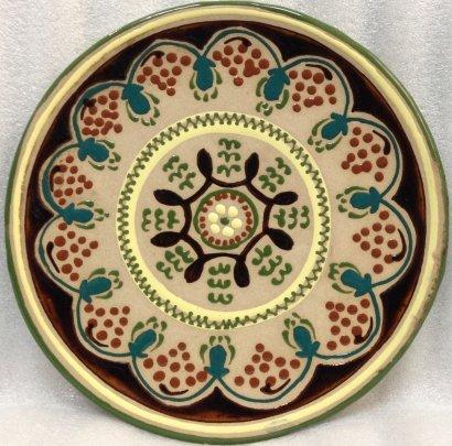 ЛКСФ Декоративная тарелка «Круговой узор» 1960 е - ЛКСФ Декоративная тарелка «Круговой узор»