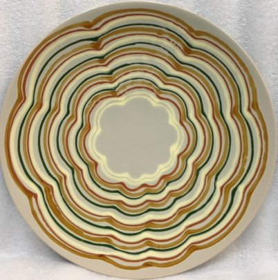 ЛКСФ Декоративная тарелка «Орнамент на сером» 1960 е - ЛКСФ Декоративная тарелка «Орнамент на сером»