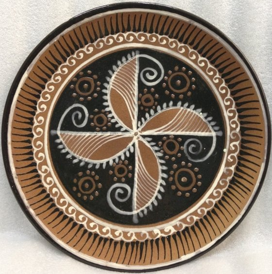 ЛКСФ Декоративная тарелка «Круговой орнамент» 1960 е - ЛКСФ Декоративная тарелка «Круговой орнамент»