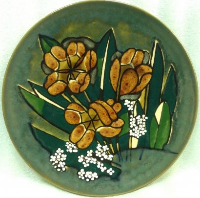ЛКСФ Декоративная тарелка «Тюльпаны» 1970 е - ЛКСФ Декоративная тарелка «Тюльпаны»