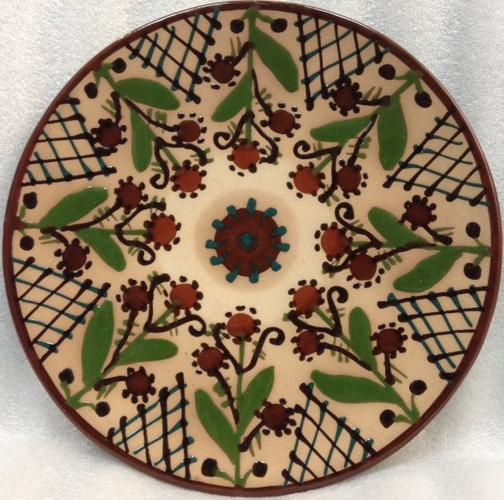 ЛКСФ Декоративная тарелка «Орнамент с цветами» 1960 е - ЛКСФ Декоративная тарелка «Орнамент с цветами»