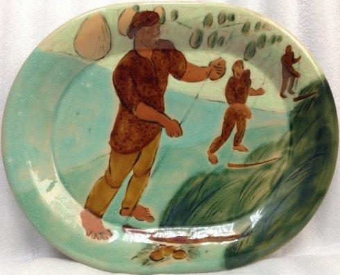 ЛКСФ Декоративная тарелка «Косари» 1960 е - ЛКСФ Декоративная тарелка «Косари»