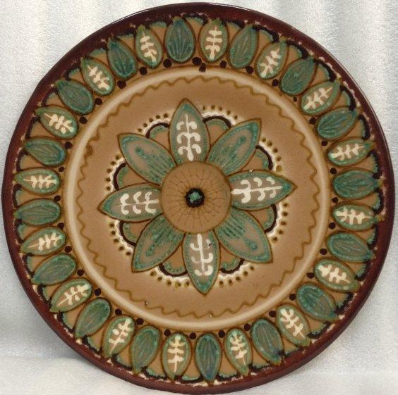 ЛКСФ Декоративная тарелка «Круговой цветочный узор» 1970 е - ЛКСФ Декоративная тарелка «Круговой цветочный узор»