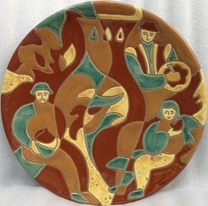 ЛКСФ Декоративная тарелка «Виноделы» 1983 - ЛКСФ Декоративная тарелка «Виноделы»