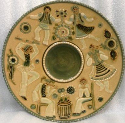 ЛКСФ Декоративная тарелка «Свадьба» 1970 е - ЛКСФ Декоративная тарелка «Свадьба»