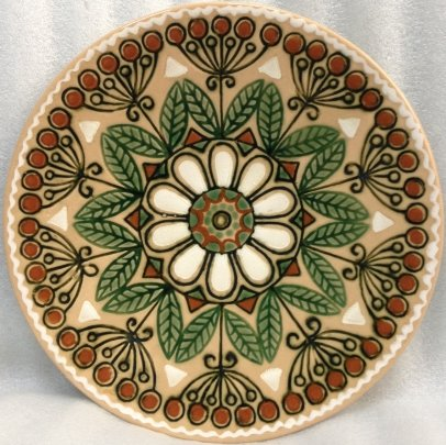 ЛКСФ Декоративная тарелка «Круговой узор» 1970 е - ЛКСФ Декоративная тарелка «Круговой узор»