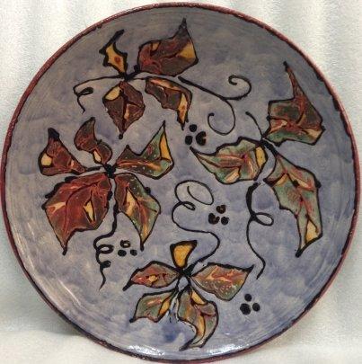ЛКСФ Декоративная тарелка «Смородина» 1970 е - ЛКСФ Декоративная тарелка «Смородина»