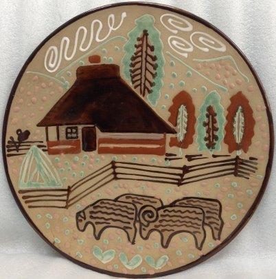 ЛКСФ Декоративная тарелка «Стадо» 1970 е - ЛКСФ Декоративная тарелка «Стадо»