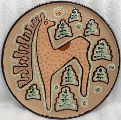 ЛКСФ Декоративная тарелка «Олень» 1970 е - ЛКСФ Декоративная тарелка «Олень»