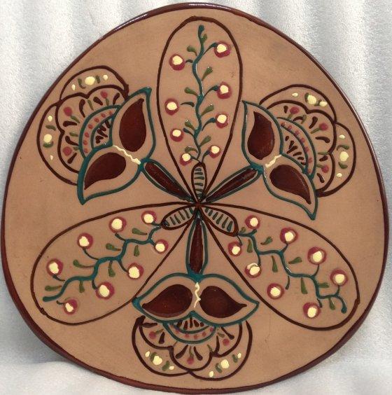 ЛКСФ Декоративная тарелка «Цветок» 1970 е - ЛКСФ Декоративная тарелка «Цветок»