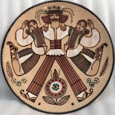 ЛКСФ Декоративная тарелка «Танец» 1970 е - ЛКСФ Декоративная тарелка «Танец»