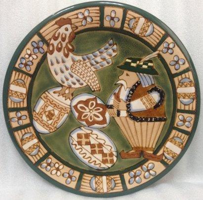 Декоративная тарелка «Курочка Ряба» ЛКСФ 1960 е - Декоративная тарелка «Курочка Ряба» ЛКСФ